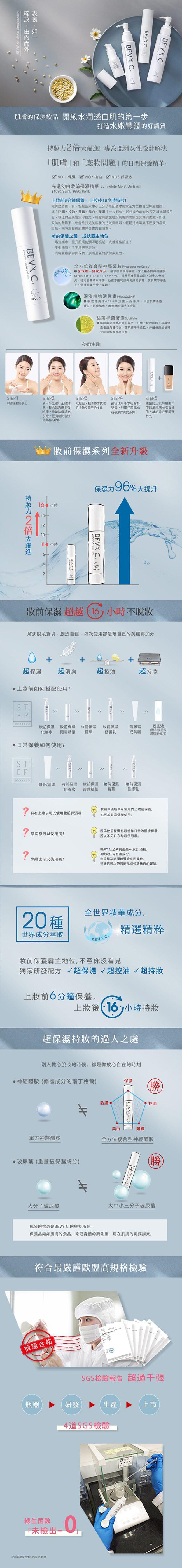 BEVY C. - 光透幻白妝前保濕精華  - 15ml