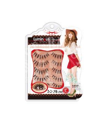 Luminous Change Eyelash - 耀眼變身假睫毛-紅色E-5對入