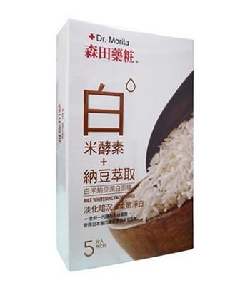 DR. JOU 森田藥粧 - 白米納豆潤白面膜  - 5入