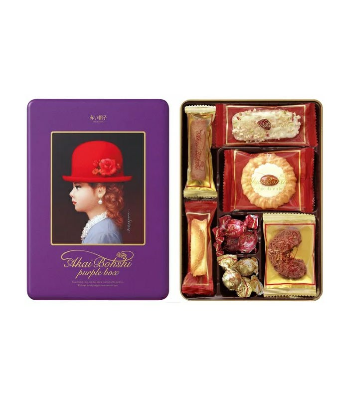TIVOLINA 日本紅帽子 - 紫帽禮盒 -7種口味 - 98g