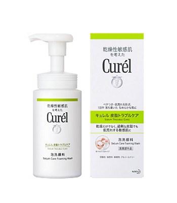 Curel - 控油保濕洗顏慕絲-150ml