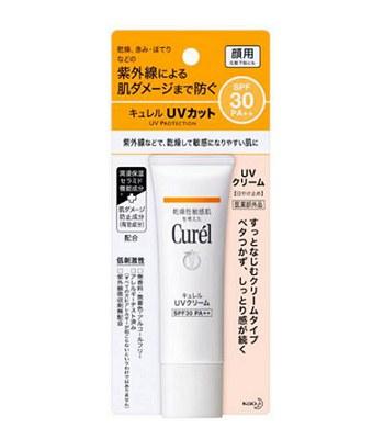 Curel - 潤浸保濕防曬乳霜 SPF30 PA++ (臉部用)-30g