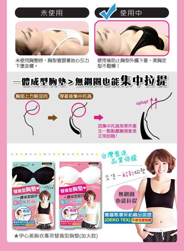 E.Heart - 伊心美胸衣專用替換型胸墊 - 1入