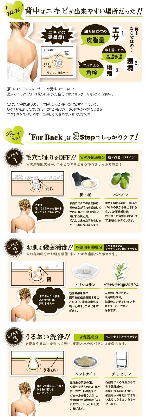 For Back - 背部專用潔膚石鹼  - 135g