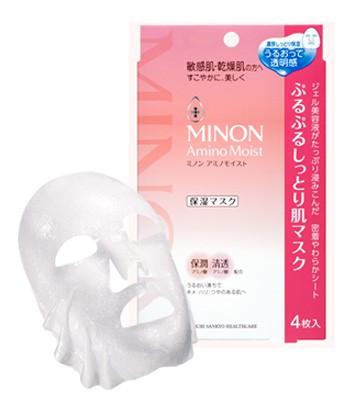 MINON - 水潤保濕修護面膜-4枚入