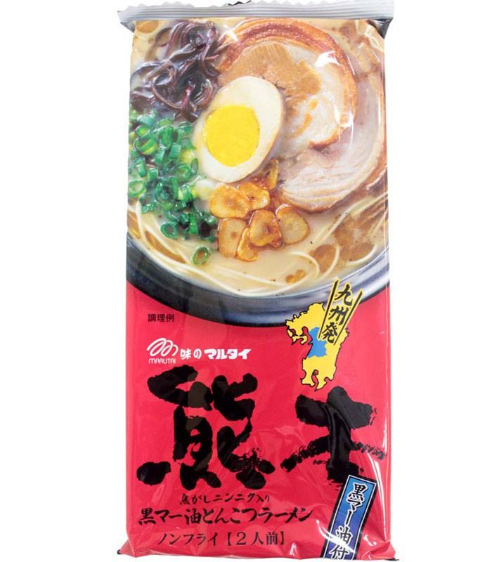 Japanese snacks 日本零食館 - 丸太 熊本黑麻油豚骨拉麵  - 186g
