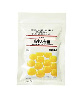 MUJI - 喉糖(柚子.金桔)-38g