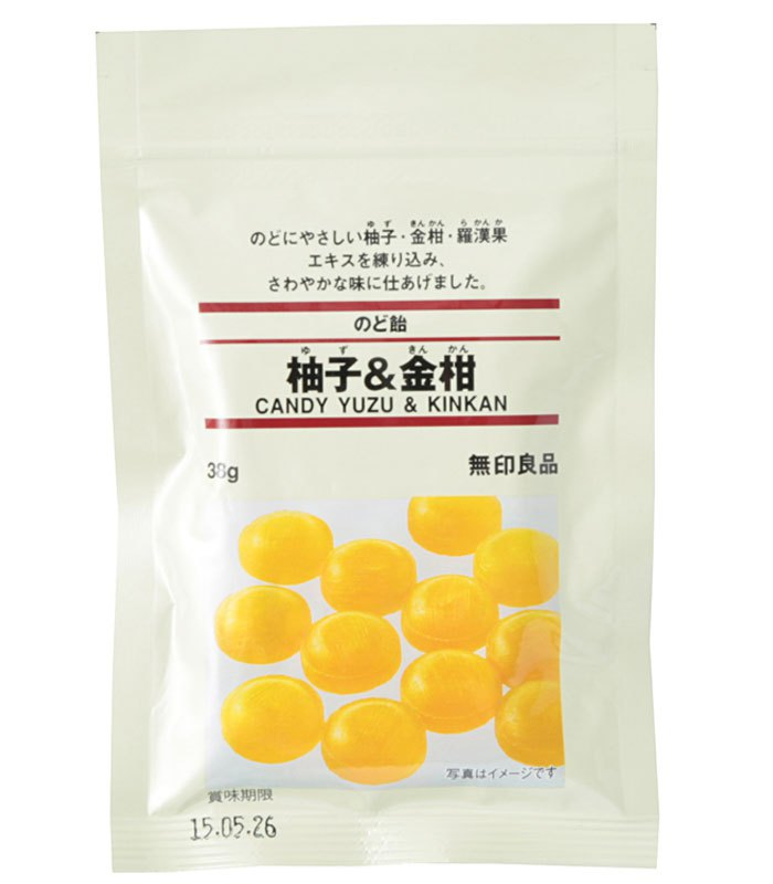 MUJI 無印良品 - 喉糖(柚子.金桔)  - 38g