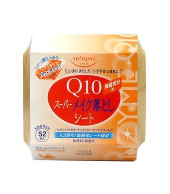 KOSE - Softymo Q10卸粧濕巾-52枚入