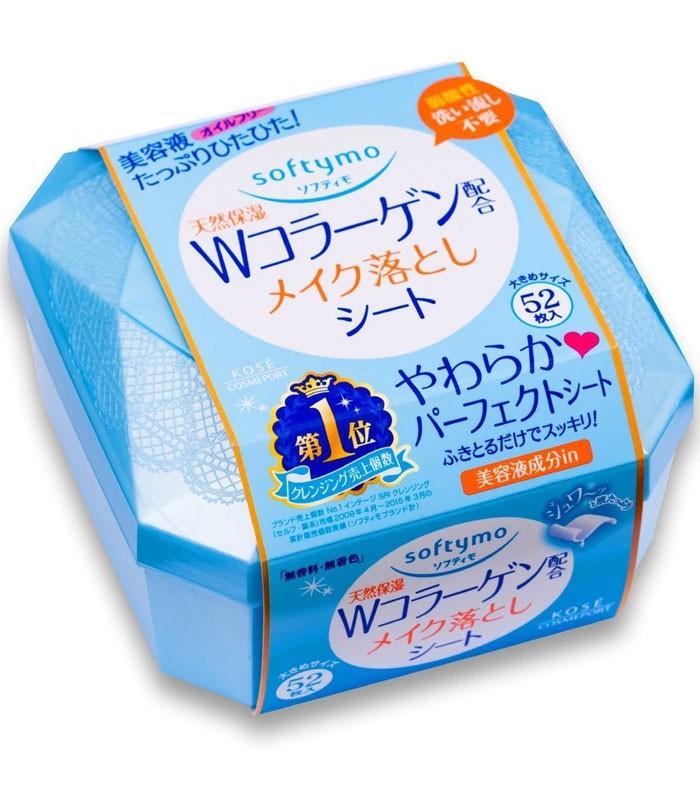 KOSE COSMEPORT 高絲開架 - Softymo 膠原蛋白卸粧濕巾  - 52枚入