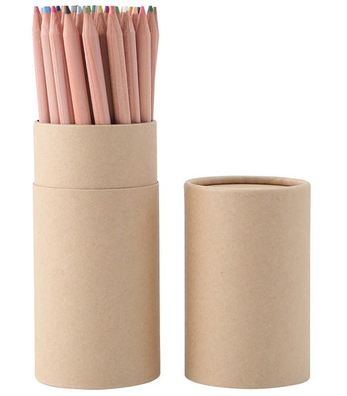 MUJI 無印良品 - 紙筒裝繪圖色鉛筆/36色 - 36色