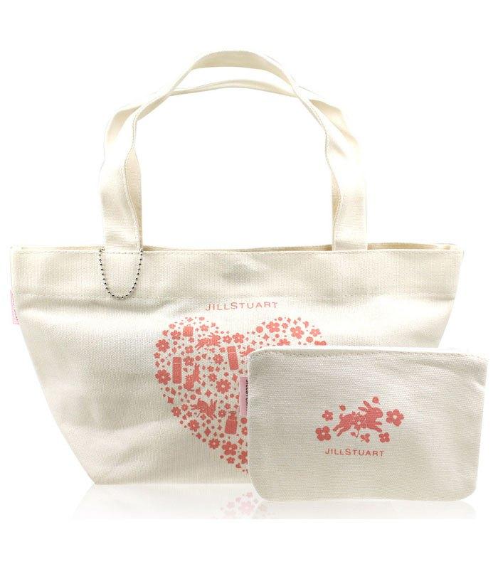 Jill Stuart_Kit 吉麗絲朵_周邊商品 - 米色愛心提袋組  - 1組