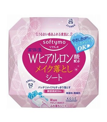 KOSE - Softymo 玻尿酸卸粧濕巾-52枚入