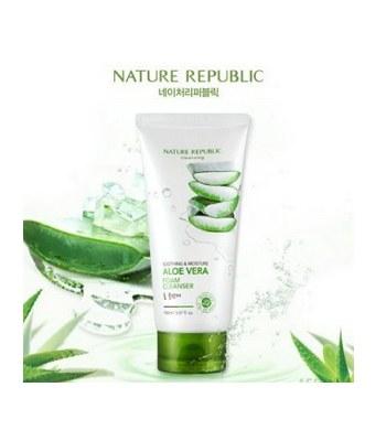 NATURE REPUBLIC - 80%蘆薈保濕洗面乳-150ML