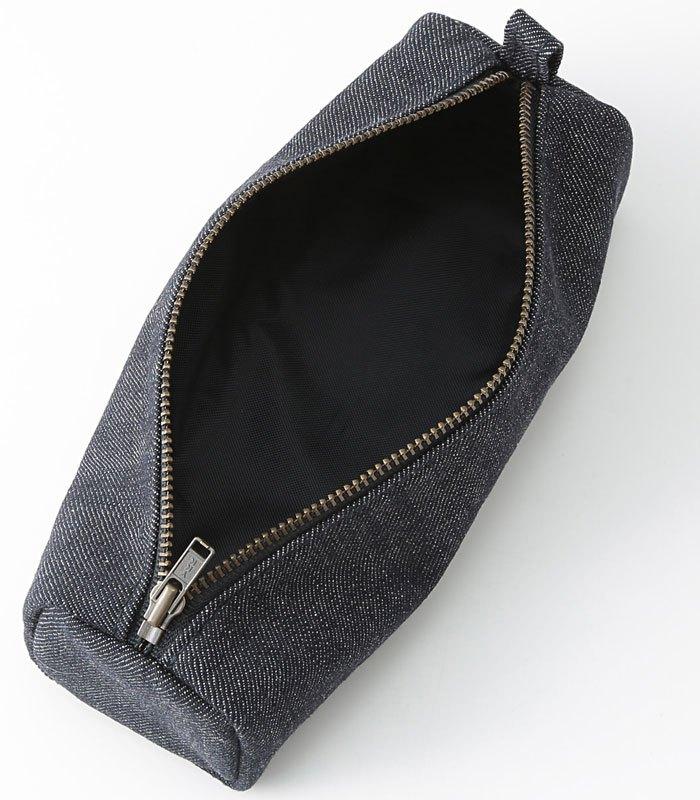 MUJI 無印良品 - 丹寧盒型筆袋  - 5.5 x 5.5 x19 cm