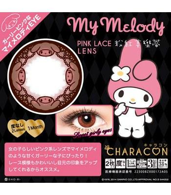 CHARACON - 月拋隱形眼鏡-粉紅美樂蒂