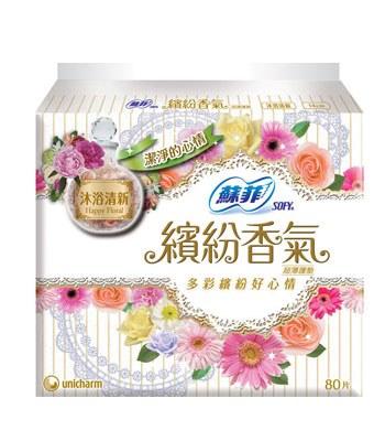 SOFY - 繽紛香氣甜心沐浴清新護墊-80片