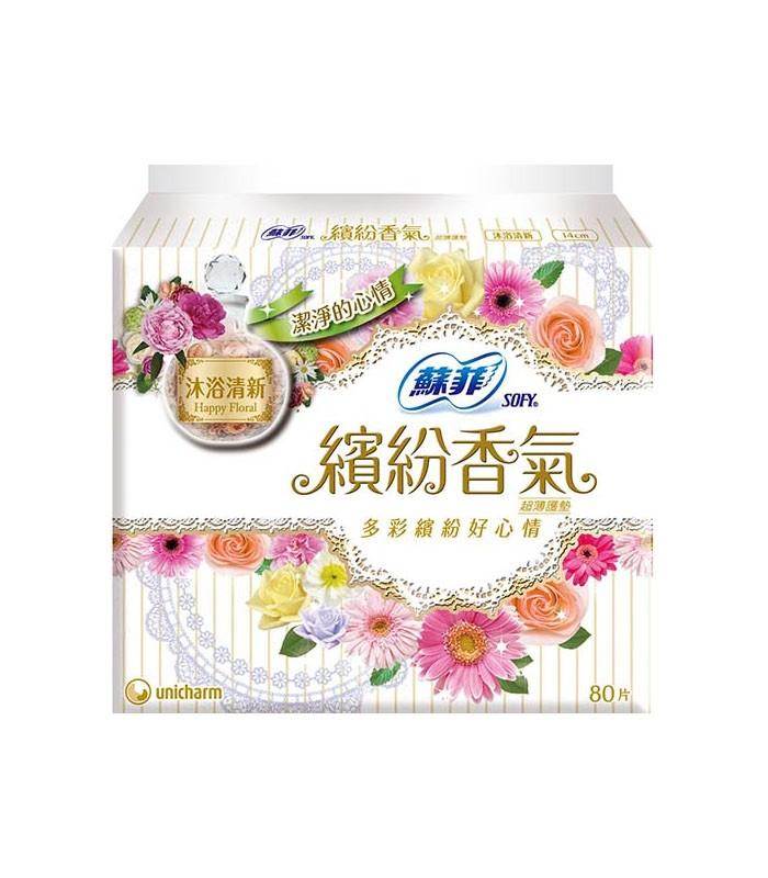 SOFY 蘇菲 - 繽紛香氣甜心沐浴清新護墊  - 80片