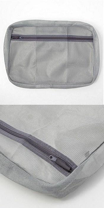 MUJI 無印良品 - 可水洗衣物收納袋 - 26 x 40 x 6.5 cm