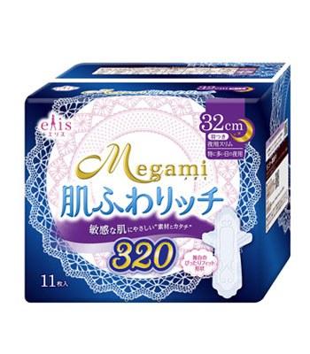 elleair - 女神輕柔肌夜用蝶翼32cm-11片/包