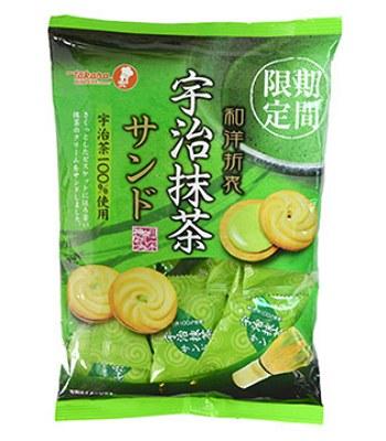 Japanese snacks - 寶製宇治抹茶夾心餅-210g