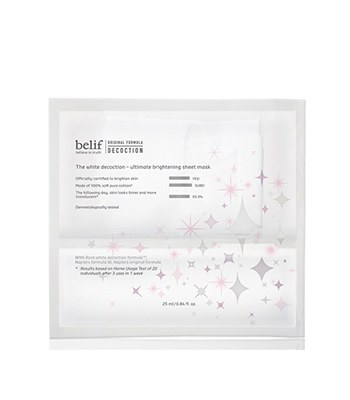 belif - 石楠花水光亮采修護面膜-5片