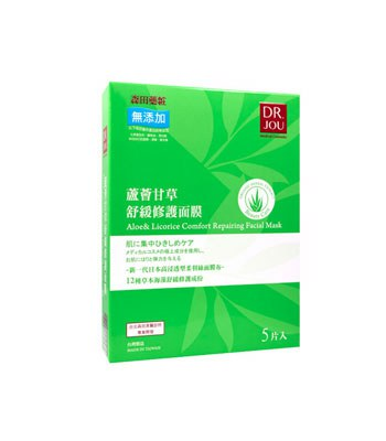 DR. JOU - 蘆薈甘草舒緩修護面膜-5片入