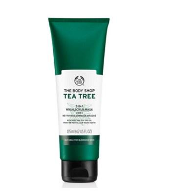 THE BODY SHOP - 有機天然茶樹3效淨膚-磨砂-面膜-125ML