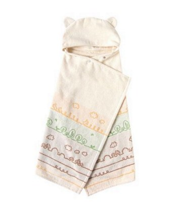 Hoppetta - 有機棉童趣森林熊耳朵浴巾-1入