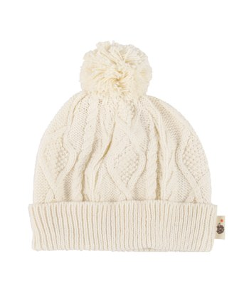 Hoppetta* - 麻花編織毛球帽-1個