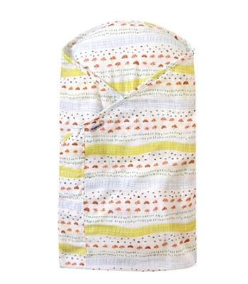 Hoppetta - 蘑菇森林軟墊包巾-1入