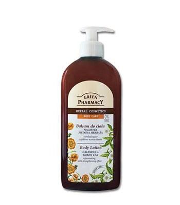 GREEN PHARMACY - 天然金盞花&綠茶保濕潤膚乳液-500ml