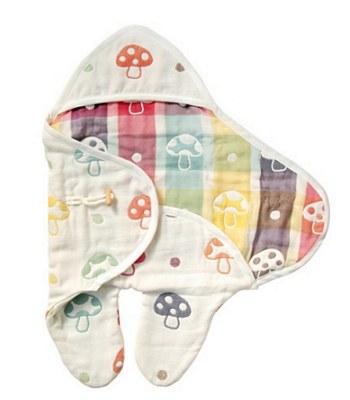 Hoppetta - 六層紗蘑菇包巾-1入
