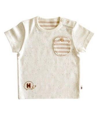 Hoppetta - 有機棉短袖T恤-咖啡-1件