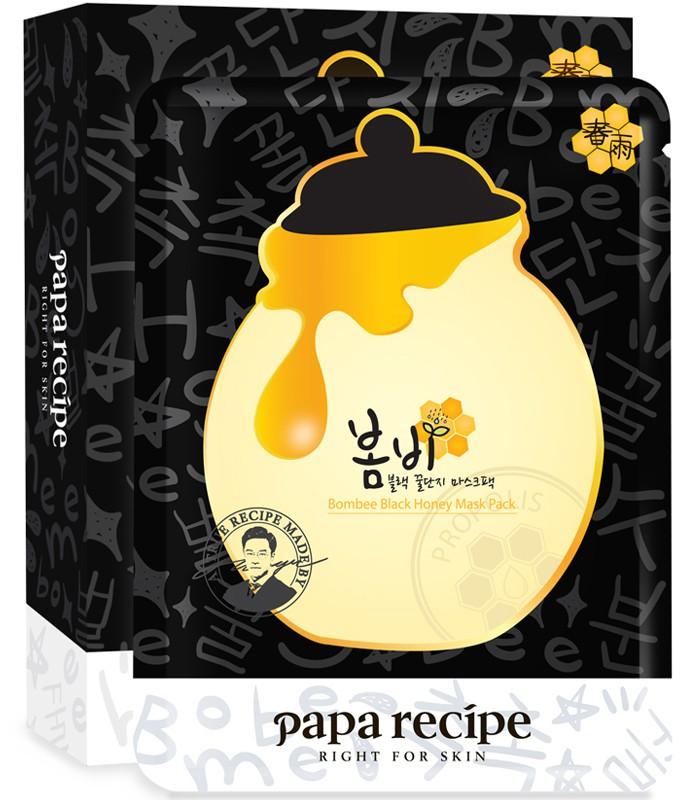 Papa recipe - papa recipe春雨竹炭蜂蜜保濕面膜-10枚