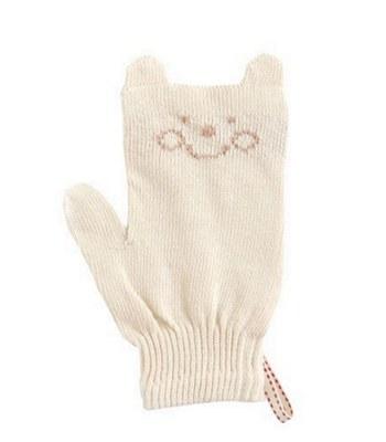 Hoppetta - 有機棉寶寶專用沐浴手套-1入