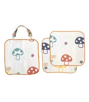 Hoppetta - 六層紗多功能蘑菇夾手帕組-1入
