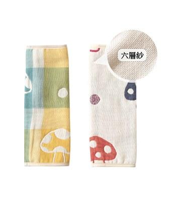 Hoppetta - 六層紗繽紛蘑菇背巾口水巾-1對