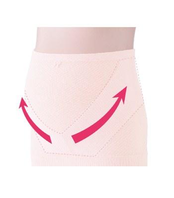 inujirushi - 薄手腹卷托腹帶(醫療用束帶)粉紅色