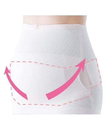 inujirushi - 兩件式全腹隱形托腹帶(醫療用束帶)粉紅色