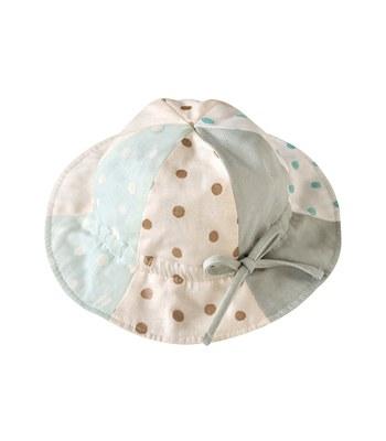 NAOMI ITO - 粉彩拼貼波點鬱金香帽