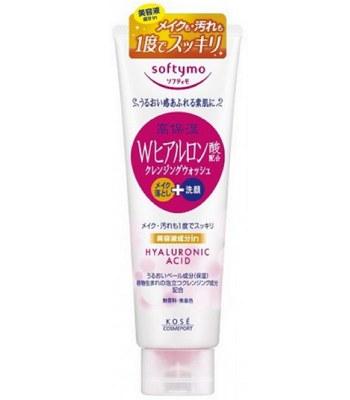 KOSE - Softymo玻尿酸卸粧+洗顏兩用洗面乳-190g