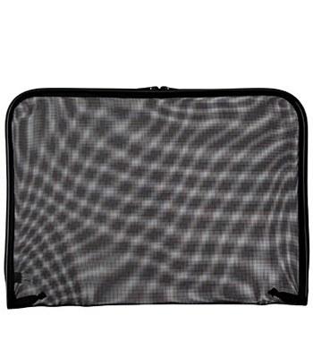 MUJI - 尼龍網布文件袋- 黑 A4-A4