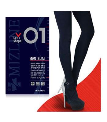 MIZLINE - 瘦腿褲襪(不透肉)-01-1入