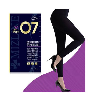 MIZLINE - 瘦腿褲襪(高腰收腹9分)-07-1入