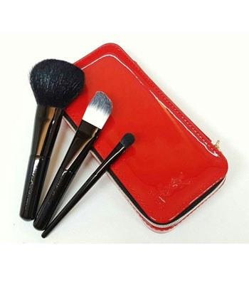 YSL - 【特惠品】漆皮紅刷具三件組-1組