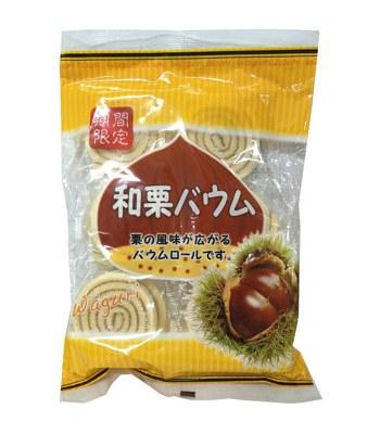 Japanese snacks - 大昇和栗蛋糕捲-10入