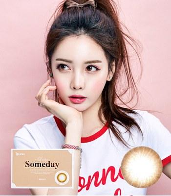Korea buyer - OLENS   SOMEDAY月拋 棕色