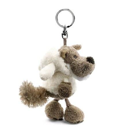 eslite - NICI披羊皮的狼鑰匙圈/白-10X8X8CM