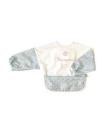 SOULEIADO - 親親寶貝收納式餐圍兜(長袖)-綠色-1入